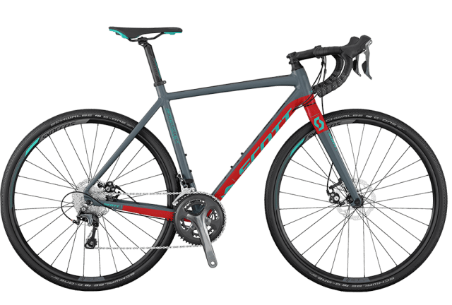 Scott Speedster Gravel 20 Disc Silver/Red Gravel Bike