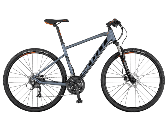 Scott Sub Cross 40 Grey/Black Gents Hybrid Bike